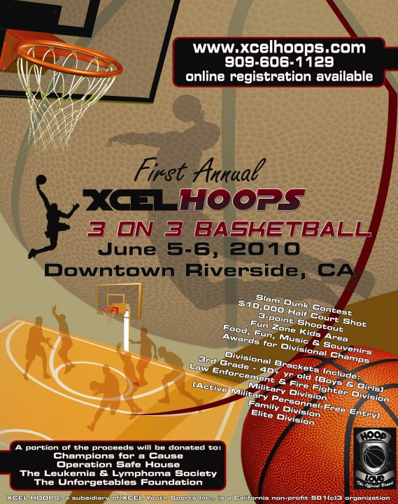 Xcel Hoops presents 3on3 tournament you don't wanna miss this one…