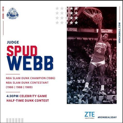 Spud Webb will be judging tomorrow at RonBealsDay dunk contesthellip