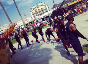 Chris Paul new commercial in Venice Beach