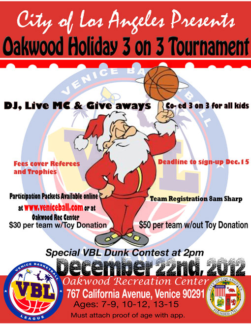 Christmas by the beach! 3 on 3 tournamnent for Kids