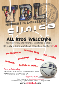 VBL – Inspired Life Basketball Clinics are BACK