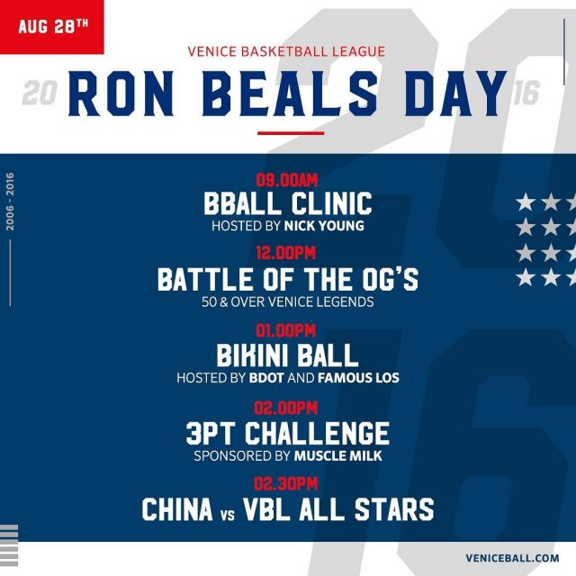 RonBealsDay historical day in Los Angeles and for the basketballhellip