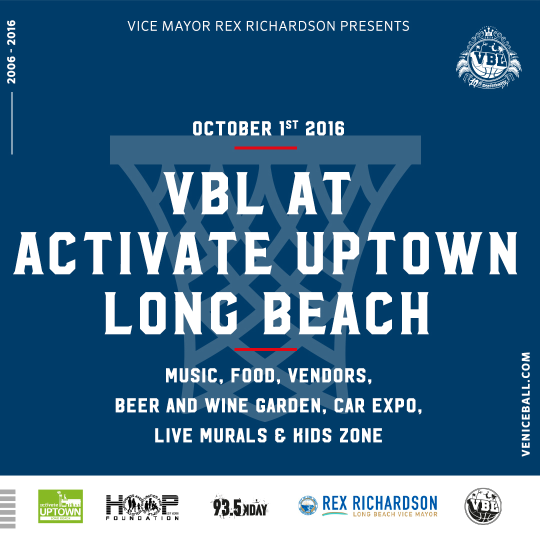 Oct 1st Activate Uptown in Long Beach – Kids Clinic – All star Dunk contest – Hip Hop festival – FREE for all