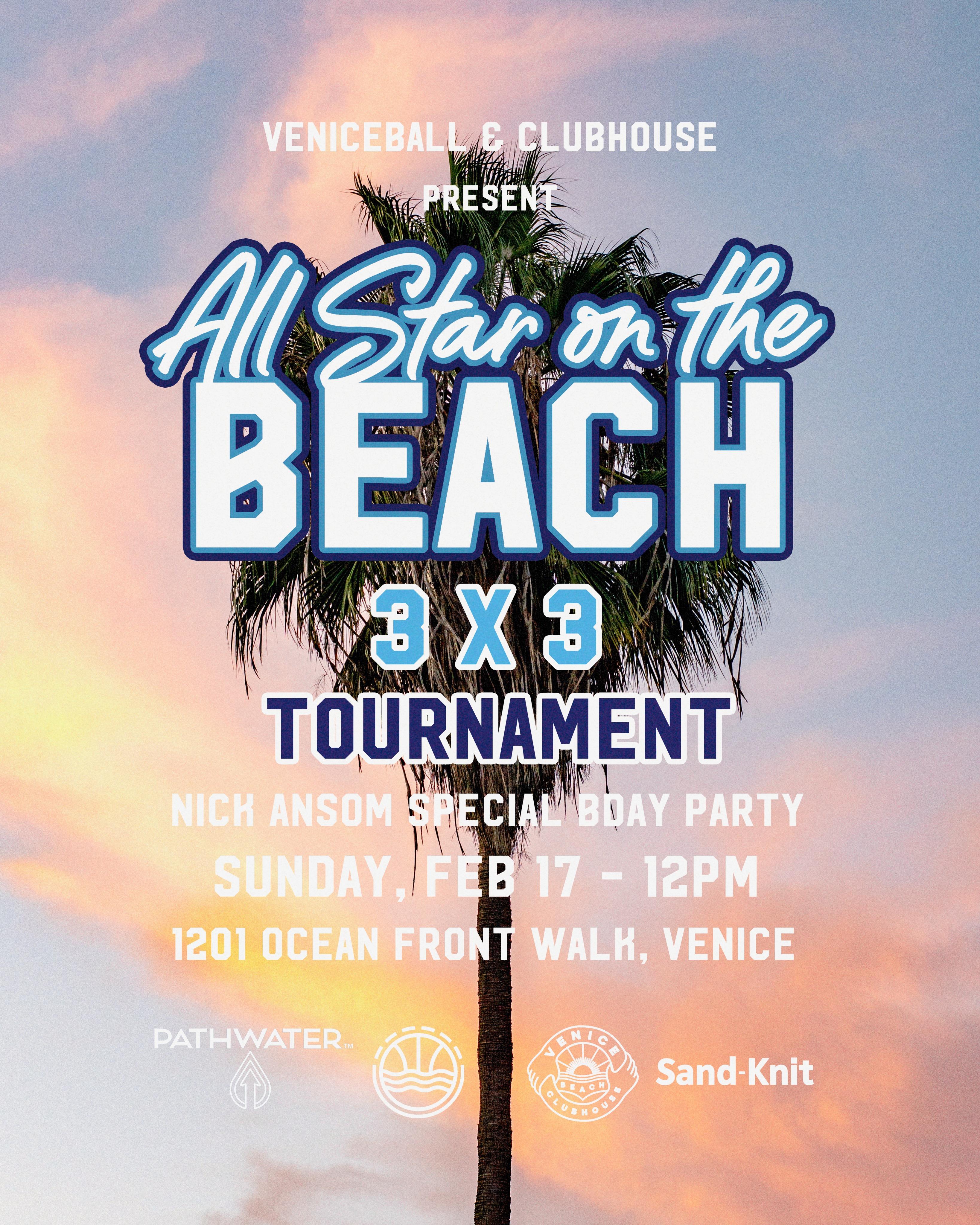 All Star on the Beach this Sunday